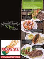 Ofertas de Potzollcalli, Menú Ejecutivo