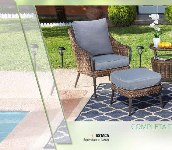 Conjunto mesa sillones y descansa pies jard n en chihuahua for Ofertas mesas jardin