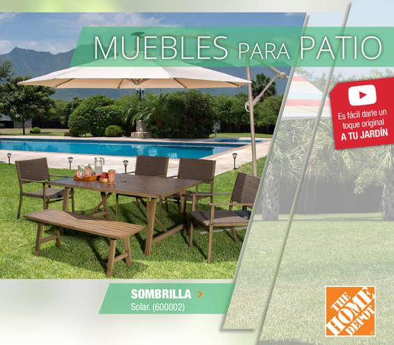 Sombrilla colgante en mazatl n cat logos ofertas y for Catalogo muebles jardin