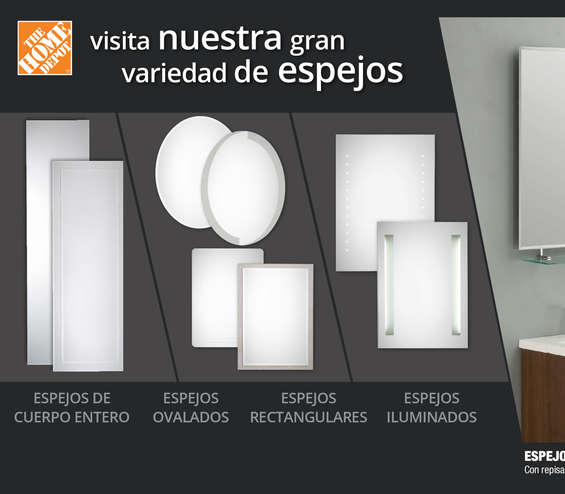 Espejos de pared en guadalupe cat logos ofertas y for Oferta espejos pared