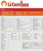Ofertas de Tortas La Castellana, Menú 2020