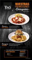 Ofertas de Toks Restaurante, Promociones del mes