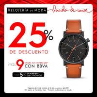 25% de descuento en relojería