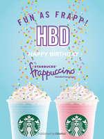 Ofertas de Starbucks, fun as Frapp