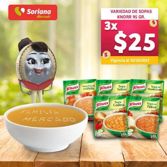 Ofertas de Soriana Mercado, Variedad de Sopas