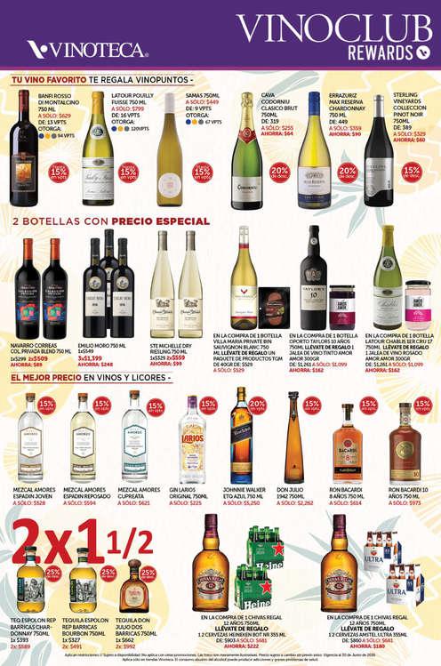 Ofertas de Vinoteca, Vinoclub junio