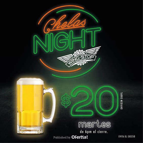 Ofertas de Wing Stop, Chelas Night $20