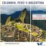 Ofertas de Viajes Bojorquez, Colombia, Perú y Argentina