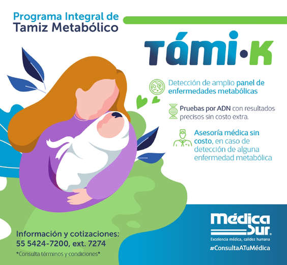 Ofertas de Laboratorio Médica Sur, Tamiz metabólico