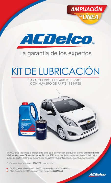 Ofertas de ACDelco, Kit de lubricación