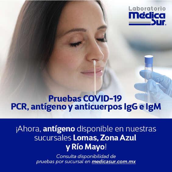 Ofertas de Laboratorio Médica Sur, Pruebas Covid