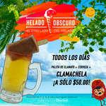 Ofertas de Helado Obscuro, Promo: paleta de clamato + cerveza