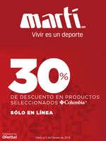 Ofertas de Marti, 30% de Descuento Columbia