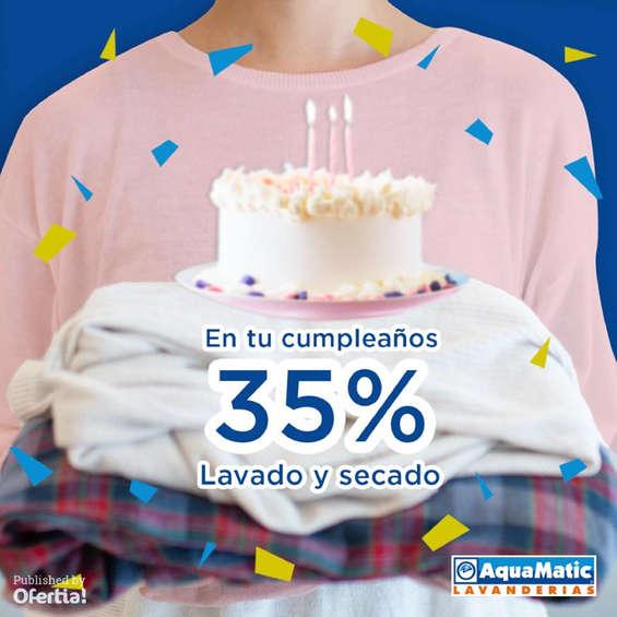 Ofertas de AquaMatic, 35% en tu cumpleaños