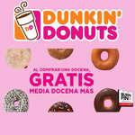 Ofertas de Dunkin' Donuts, Media docena gratis - Buen Fin