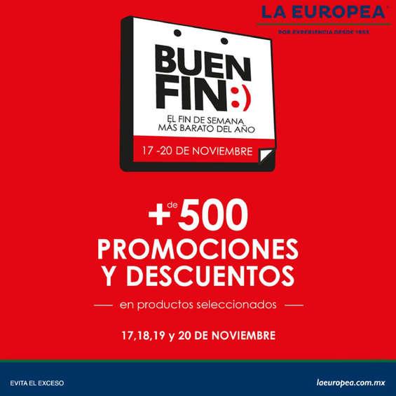 Ofertas de La Europea, Buen fin +500 promociones y descuentos