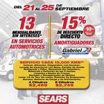 Ofertas de Sears, Promociones Sears Autocenter
