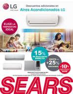 Ofertas de Sears, Descuentos Adicionales en Aires Acondicionados LG