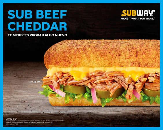Ofertas de Subway, Sub beef cheddar