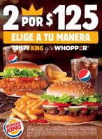 Ofertas de Burger King, 2 por $125.00