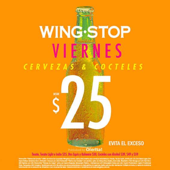 Ofertas de Wing Stop, Viernes Cervezas y cocteles desde $25