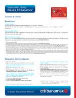 Ofertas de Citibanamex, Tarjeta de crédito Clásica Citibanamex