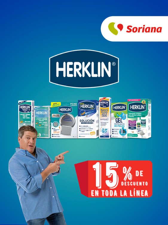 Ofertas de Soriana Express, Herklin 15% de descuento en toda la línea