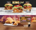 Ofertas de Burger King, King Fest