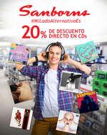 Ofertas de Sanborns, 20% de descuento en CDs