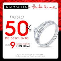 50% de descuento en anillos de compromiso