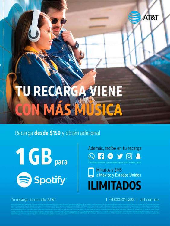 Ofertas de AT&T, Tu recarga viene con más música