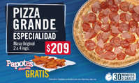 Pizza grande de especialidad