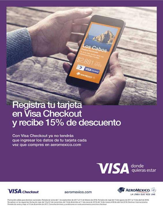 Ofertas de Aeromexico, Recibe 15% de descuento