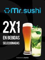 Ofertas de Mr. Sushi, 2x1 en bebidas seleccionadas