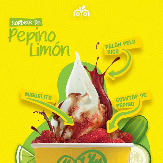 Ofertas de Moyo, Sorbete de pepino-limón