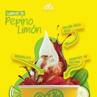 Sorbete de pepino-limón