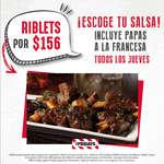 Ofertas de TGI Fridays, Jueves - Riblets + papas a la francesa