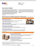 Ofertas de Fedex, Servicios y tarifas México 2019