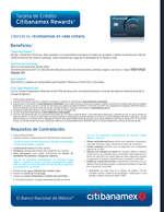 Ofertas de Citibanamex, Tarjeta de crédito Citibanamex Rewards