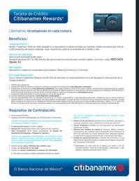 Tarjeta de crédito Citibanamex Rewards
