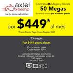 Ofertas de Axtel, 50 megas de velocidad