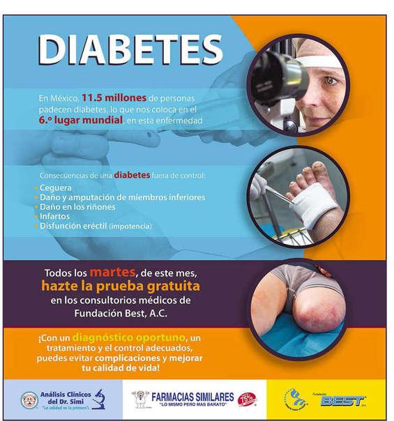 Ofertas de Farmacias Similares, Diabetes