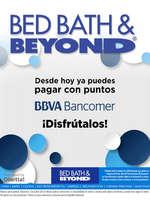 Ofertas de Bed Bath & Beyond, Paga con Puntos BBVA Bancomer