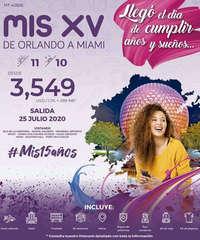 Mis XV de Orlando a Miami