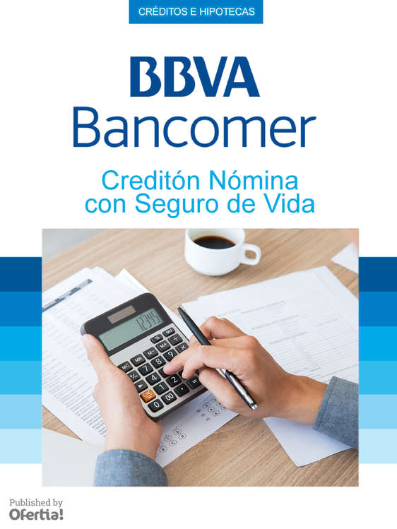 Ofertas de Bancomer, Creditón Nómina Con Seguro De Vida